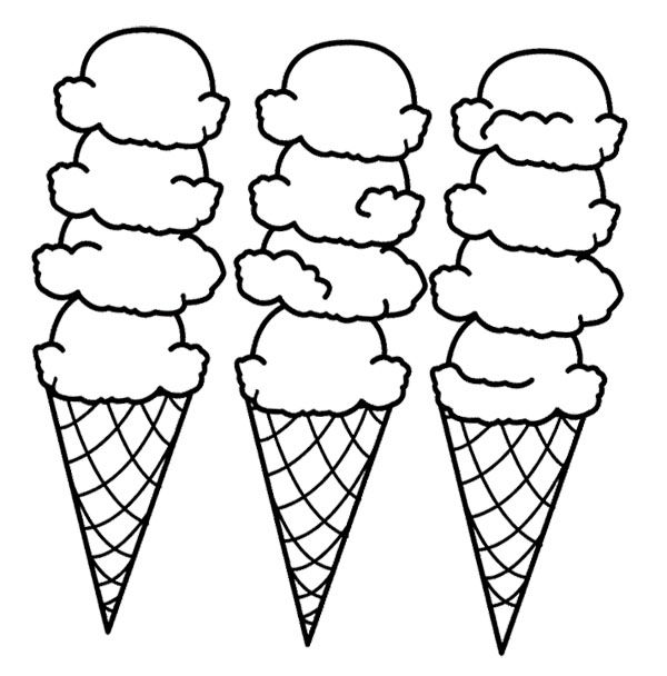 Drawn waffle cone Page Pinterest cream pages Big