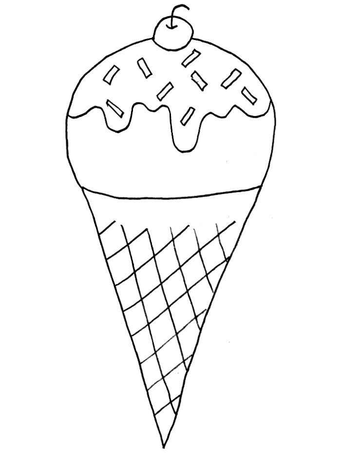 Waffle Cone clipart coloring page Clip Cone AZ Download Coloring