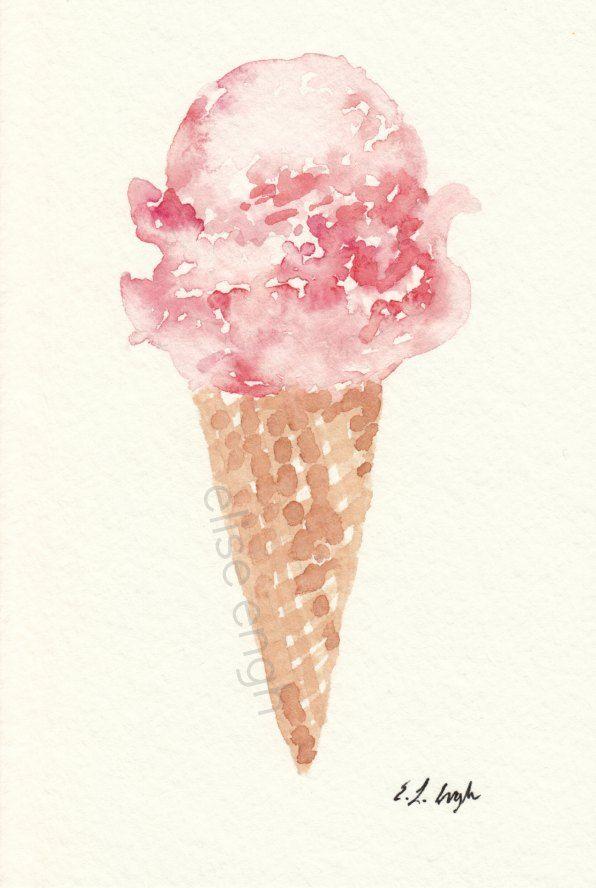 Drawn ice cream body paint Watercolor on Ice ideas Elise