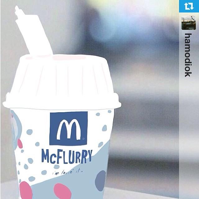 Drawn waffle cone mcd #McDonalds McFlurry #McDonaldsArabia :) Lovely