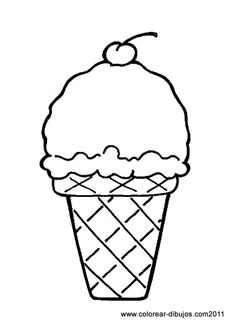 Drawn waffle cone printable Cream ice picture Cream Coloring