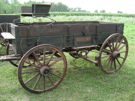 Drawn wagon Old Pinterest Hickory Drawn Wagon~