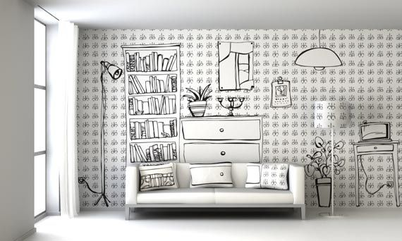 Drawn wall ^ Ideas Wall Living Wall