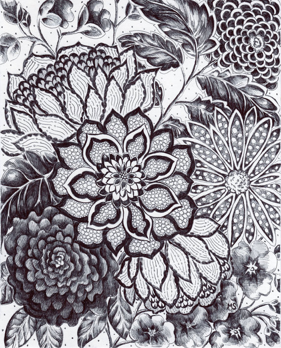 Drawn photos lace flower Lace