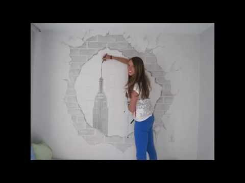 Drawn skyline wall Drawing YouTube New Skyline Skyline