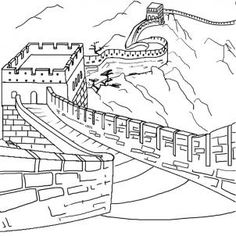 Great Wall Of China clipart Great Wall Of China Coloring Page Company Google Great of Asian
