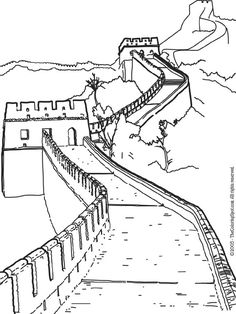 Great Wall Of China clipart Great Wall Of China Coloring Page In wall The draw and