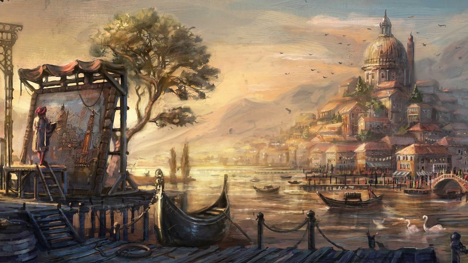 Drawn wallpaper Venice Resolution Drawn  Anno