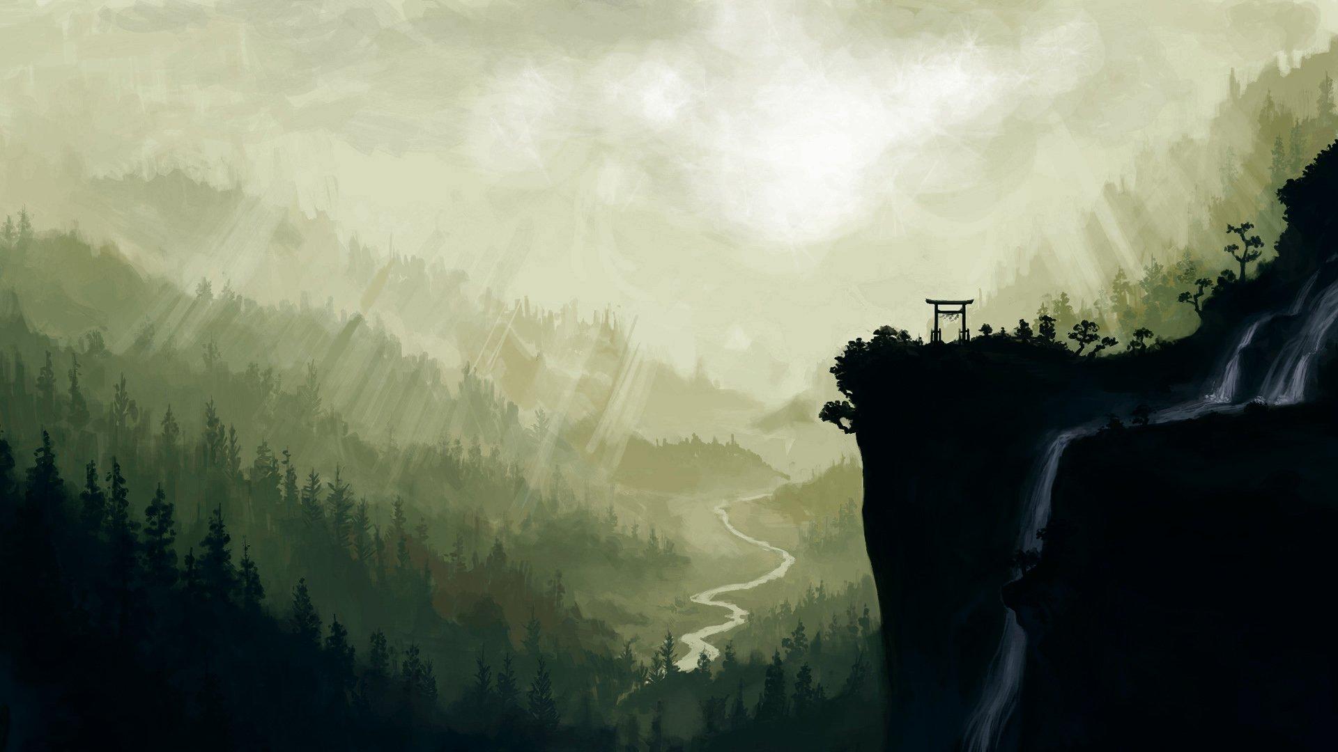 Drawn scenery desktop background HD Drawing HD Backgrounds 192