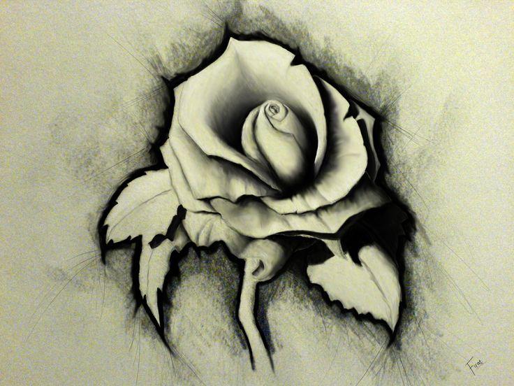 Drawn rose artistic Wallpaper Artistic Rose wallpaper sketch