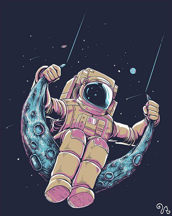 Drawn wallpaper astronaut On illustration Pinterest DrawingTrippy Art