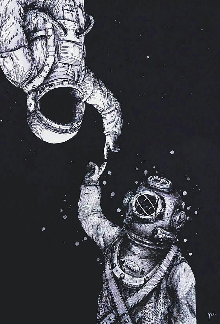 Drawn wallpaper astronaut Ideas on Pinterest Pin more
