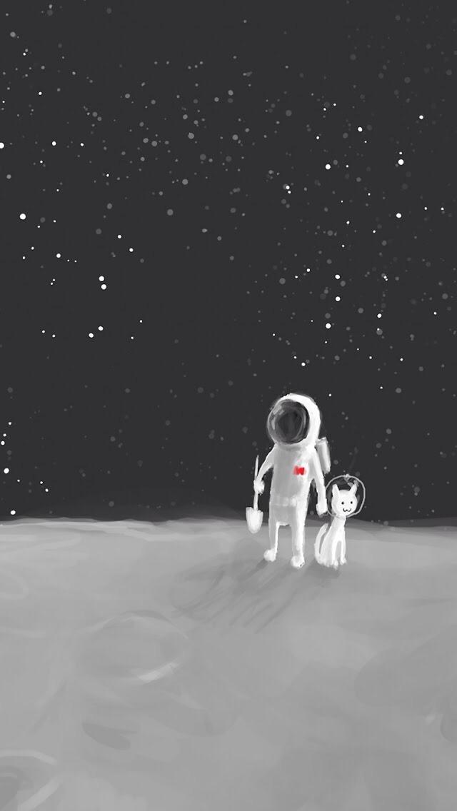 Drawn wallpaper astronaut Wallpapers Hand Hand Astronaut Free