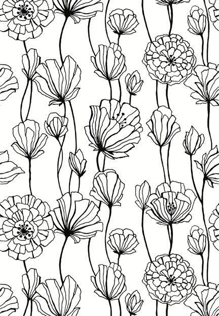 Drawn wallpaper black book On pattern Pinterest on Floral