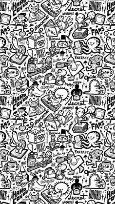 Drawn wallpaper black book Kawaii iPhone wallpaper 5S World