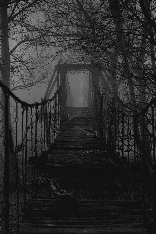 Dark Wood clipart scared the dark About bridge do Spooky something