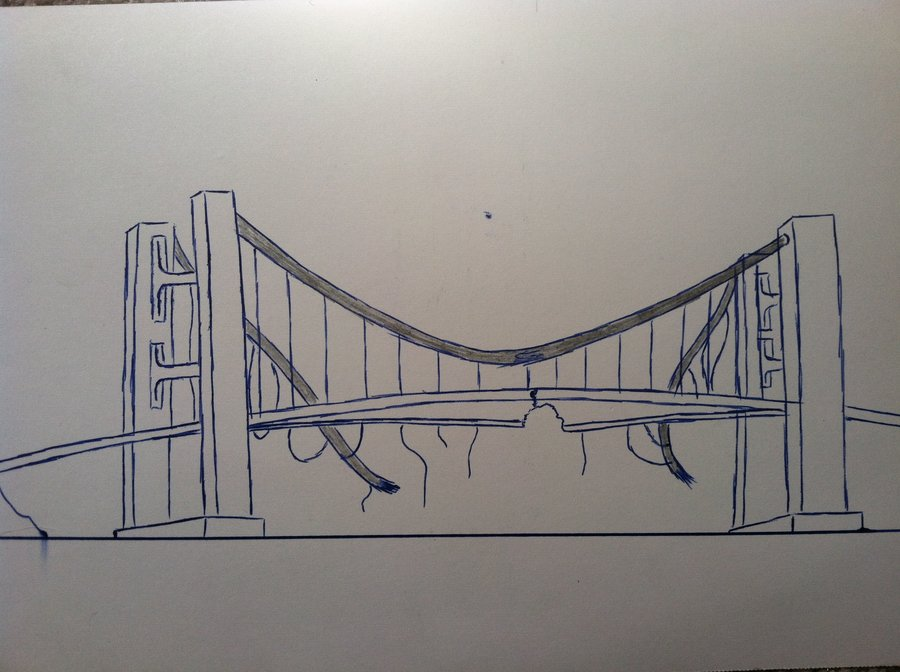 Drawn wallpaper broken bridge By on Mattmann94 DeviantArt bridge