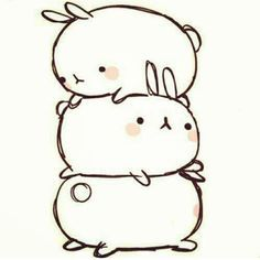 Drawn bunny chubby bunny Quirky Pinterest and Quirky on