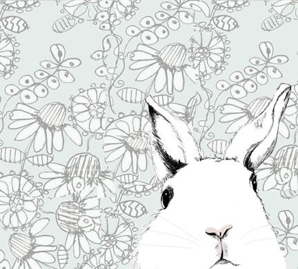 Drawn wallpaper bunny Drawing Rabbit Alice Print Print