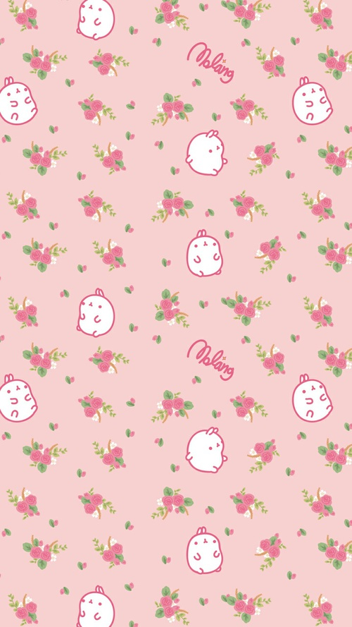 Drawn wallpaper bunny Art flowers bunny baby and