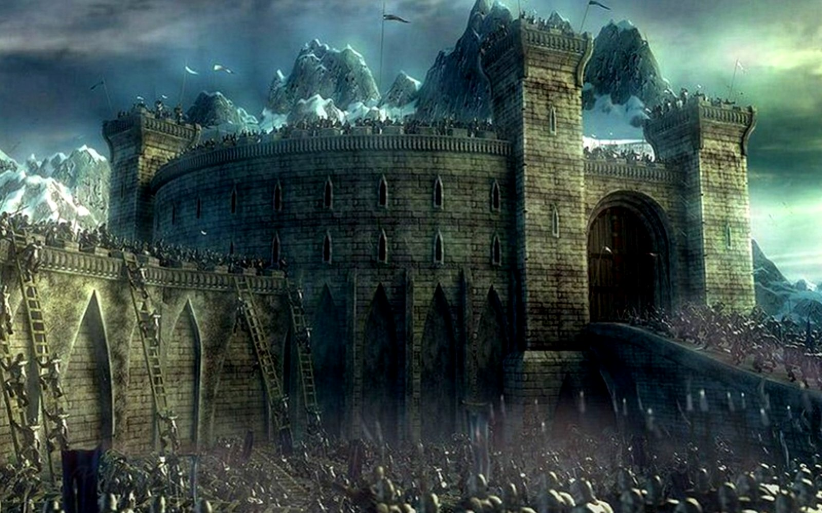 Drawn wallpaper castle Fantasy Background and backgrounds