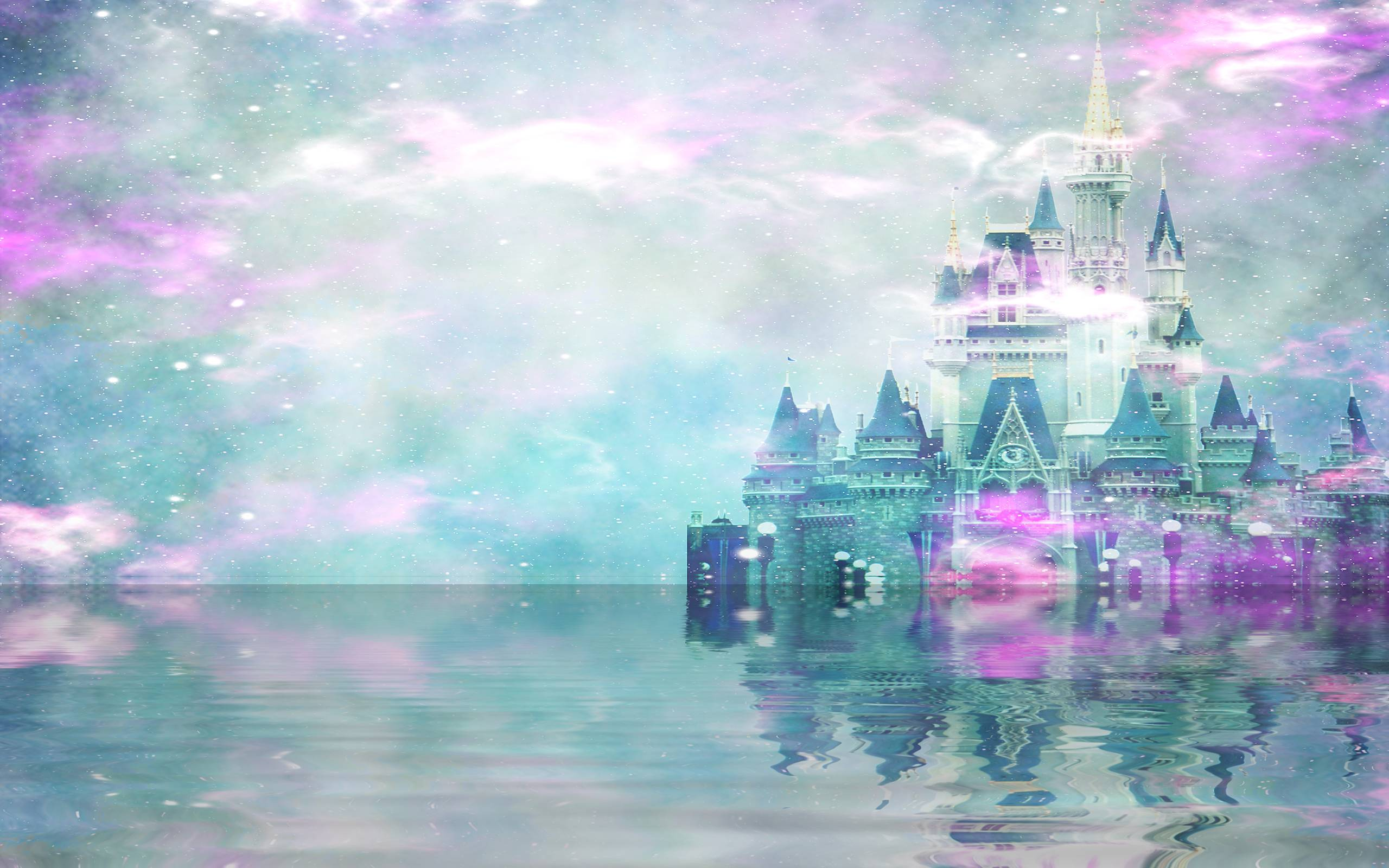 Drawn wallpaper castle Fairytale abstract & Photo Wallpaper
