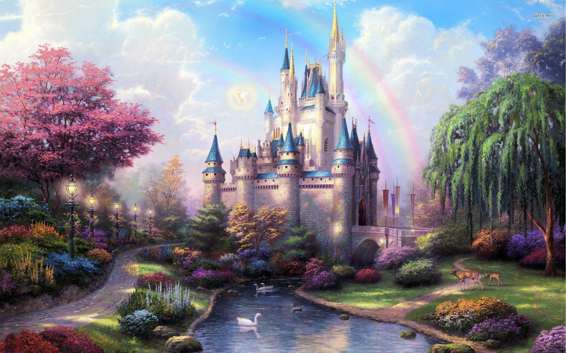 Drawn wallpaper castle Fairytale KB 90 Wide Wide
