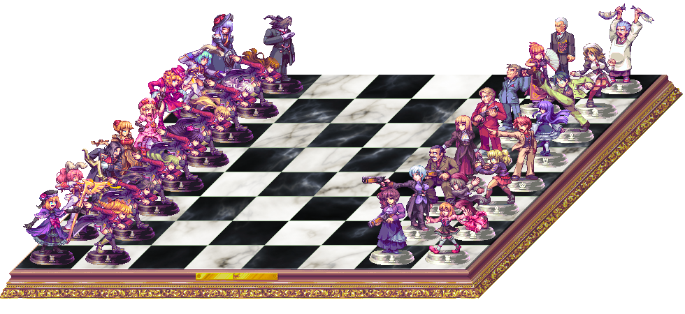 Drawn wallpaper chess anime Of AbyssWolf Chessboard the Chessboard