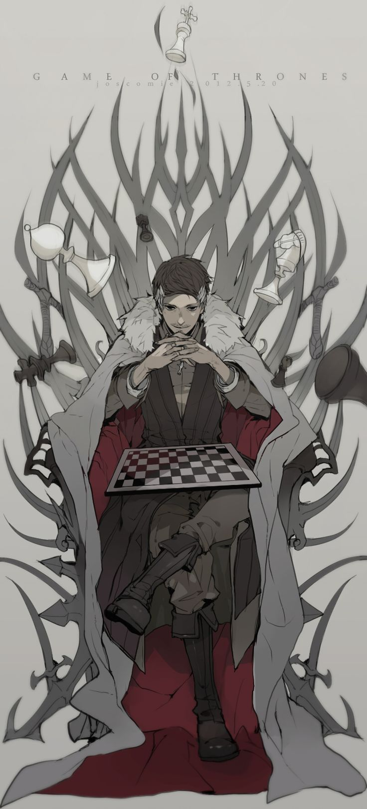 Drawn wallpaper chess anime Find more 76 Drawing Pin