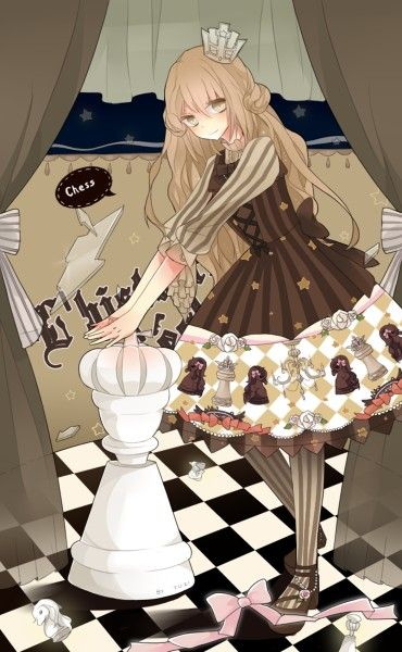 Drawn wallpaper chess anime And likes Himeji little games