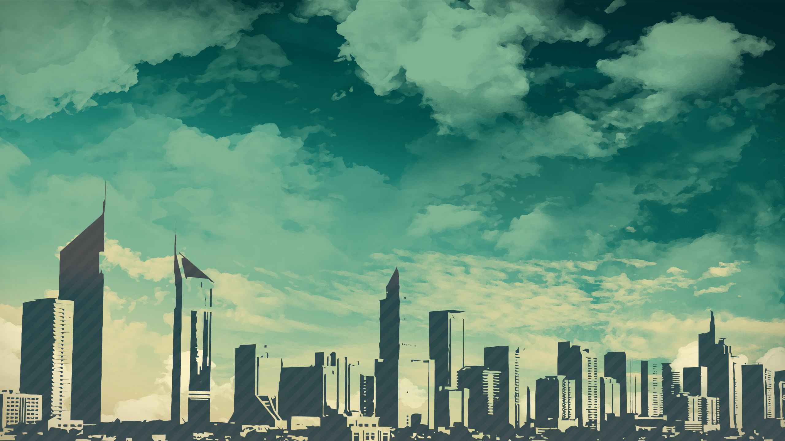 Drawn wallpaper cityscape Skyscrapers drawing #1 HD drawing