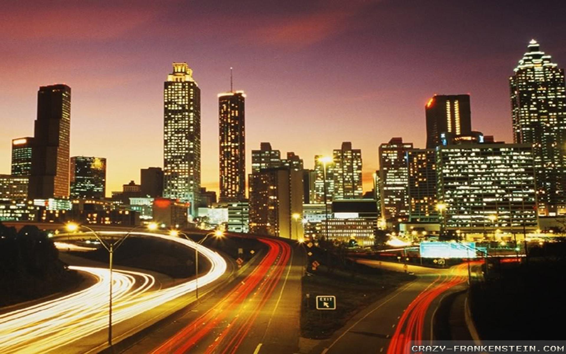 Drawn wallpaper cityscape Wallpaper Atlanta  Skyline Atlanta