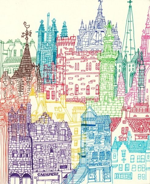 Drawn wallpaper cityscape Cityscape colour Image cityscape Skylines