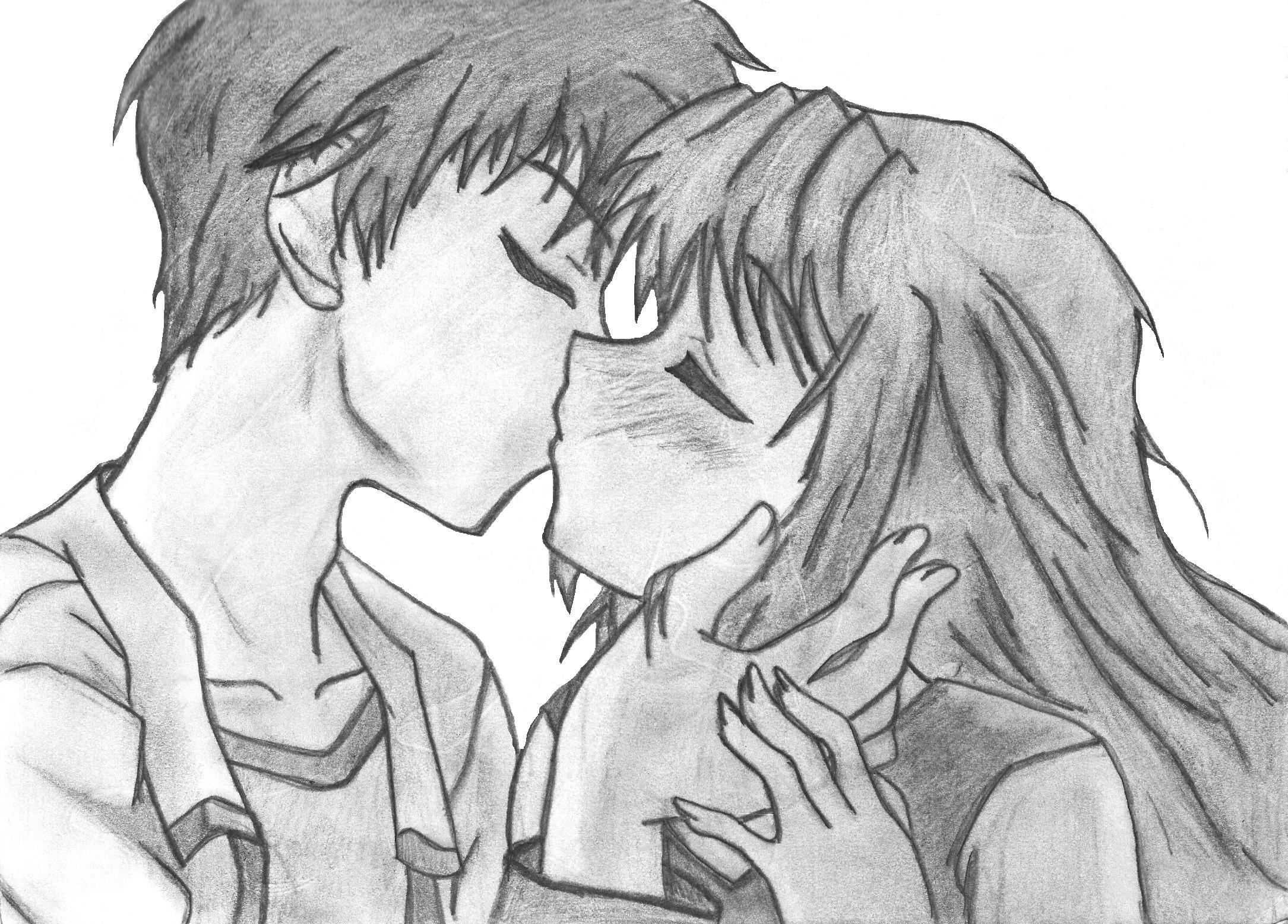 Drawn kisses anime draw Anime Art HD Wallpaper