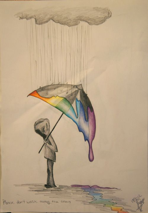Drawn rain pencil drawing Colours my ideas in dont