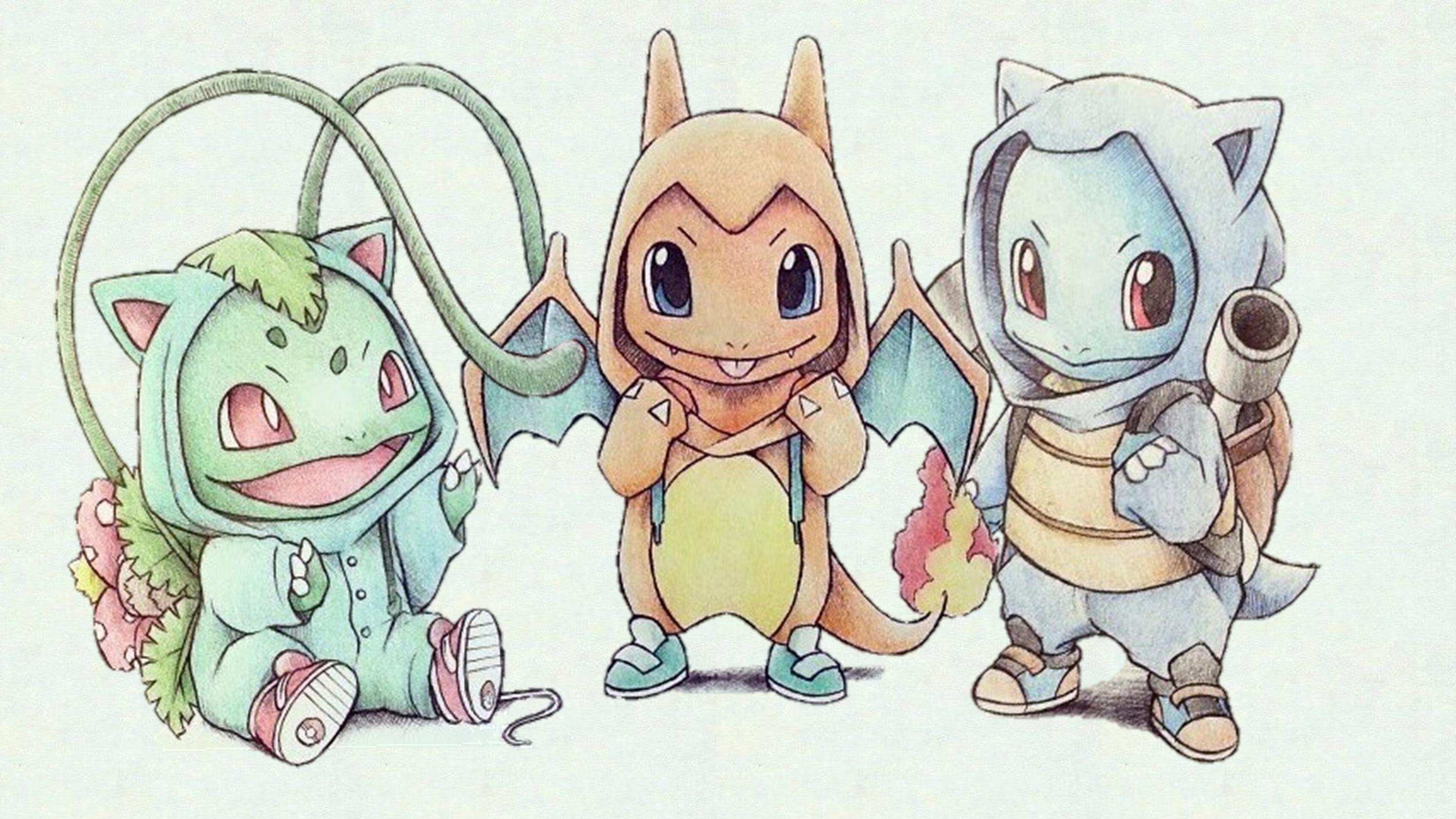 Drawn wallpaper cute Starter Pokemon Drawing  Wallpaper