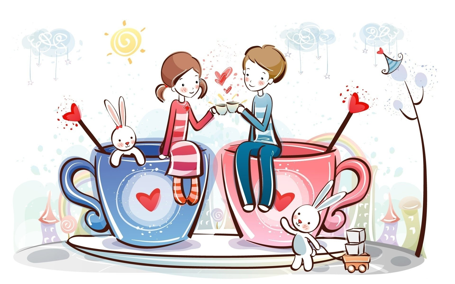 Drawn wallpaper cute Drawing Love Wallpaper Love Couple