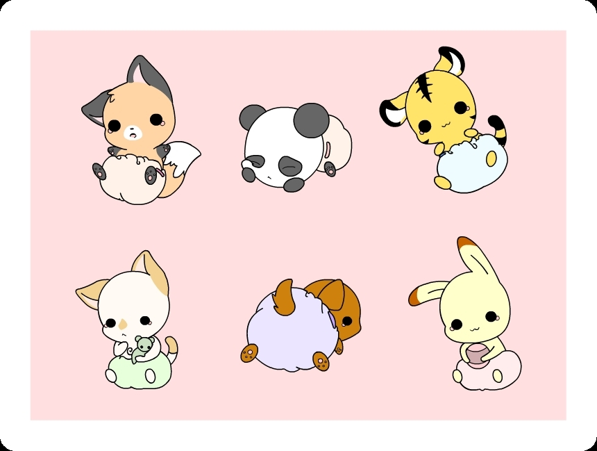 Drawn wallpaper cute animated animal Cute Animals Fanpop Chibi (15520540)