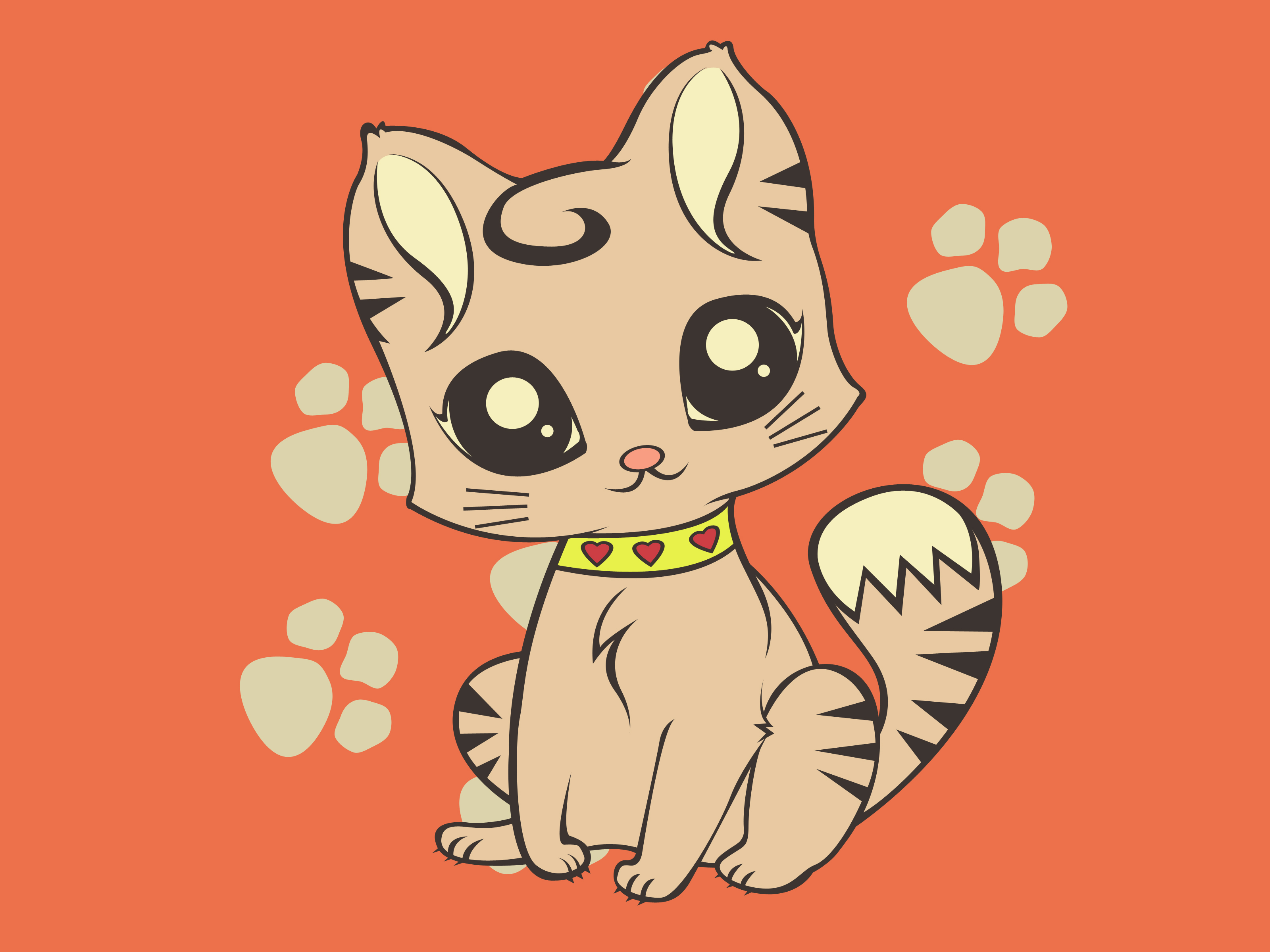 Drawn wallpaper cute animated animal Wallpaper How wikiHow Cat: Cute