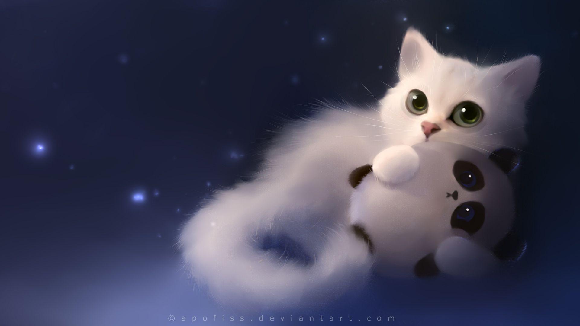 Drawn wallpaper cute anime cat Px Free Animal Bunny 1920x1080