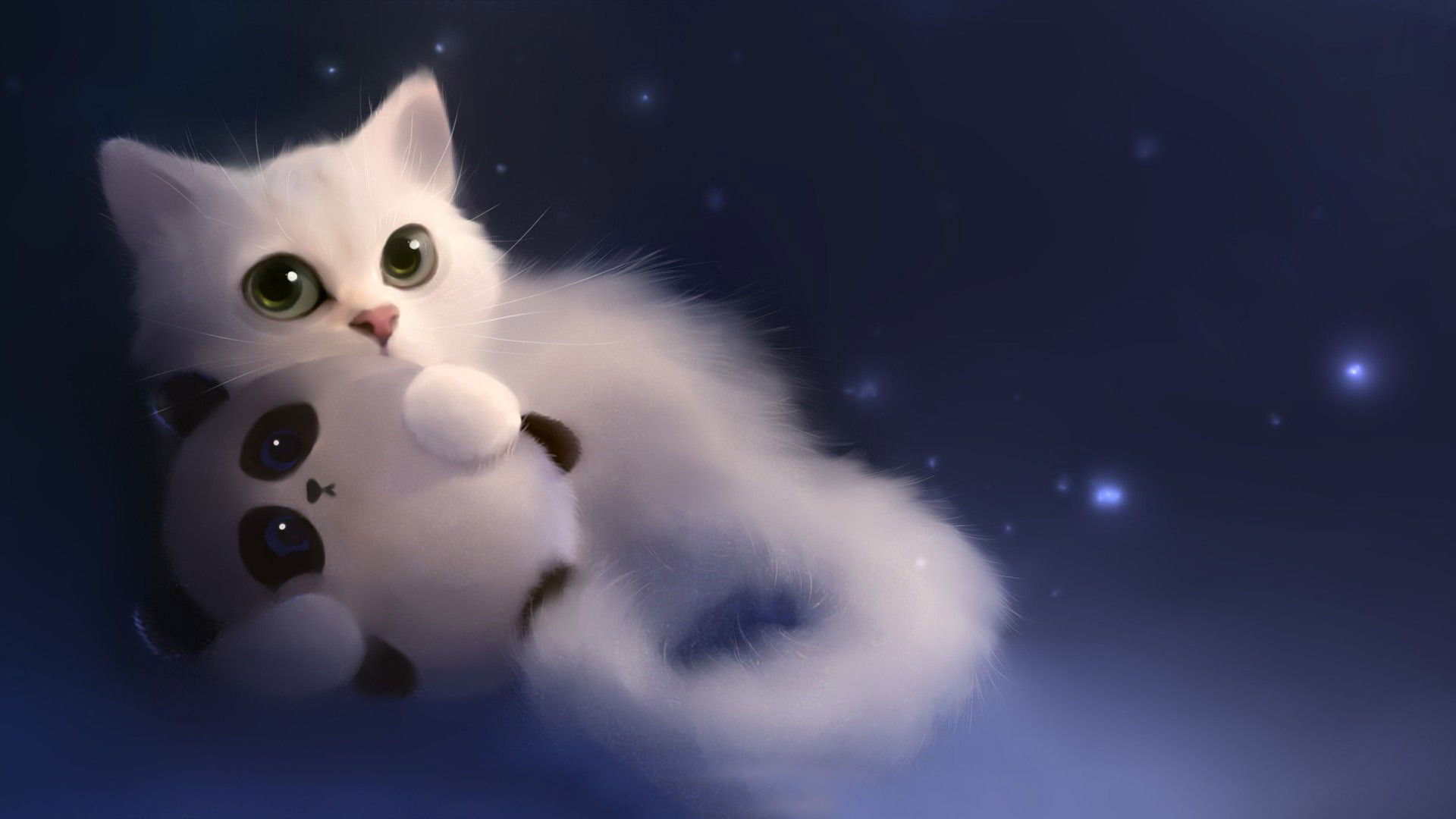 Drawn wallpaper cute anime cat : Resolution Phone Wallpaper Drawing