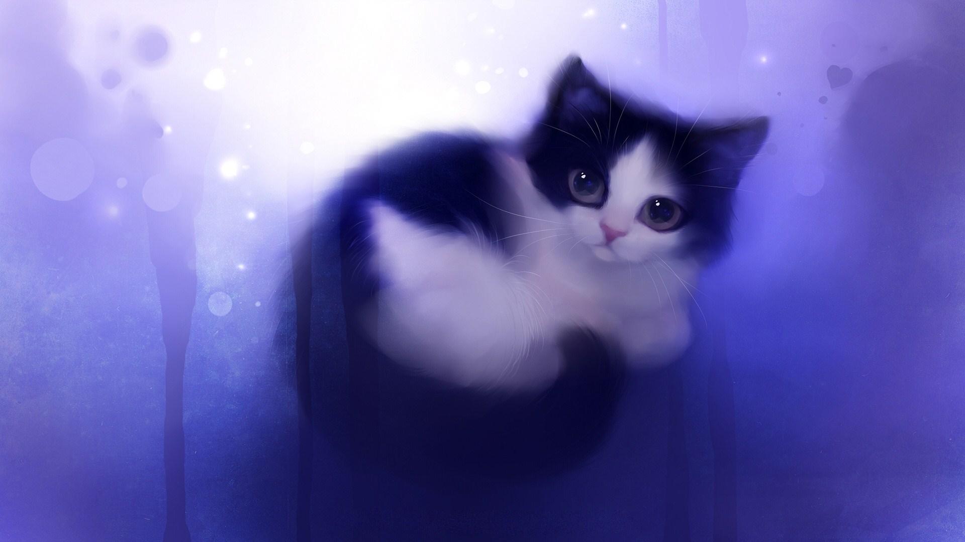 Drawn wallpaper cute anime cat Wallpaper this facebook WallpaperSafari wallpaper