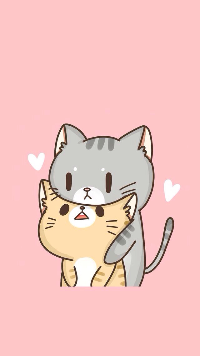 Drawn wallpaper cute anime cat #createconjuli Pinteres… Fondos … in