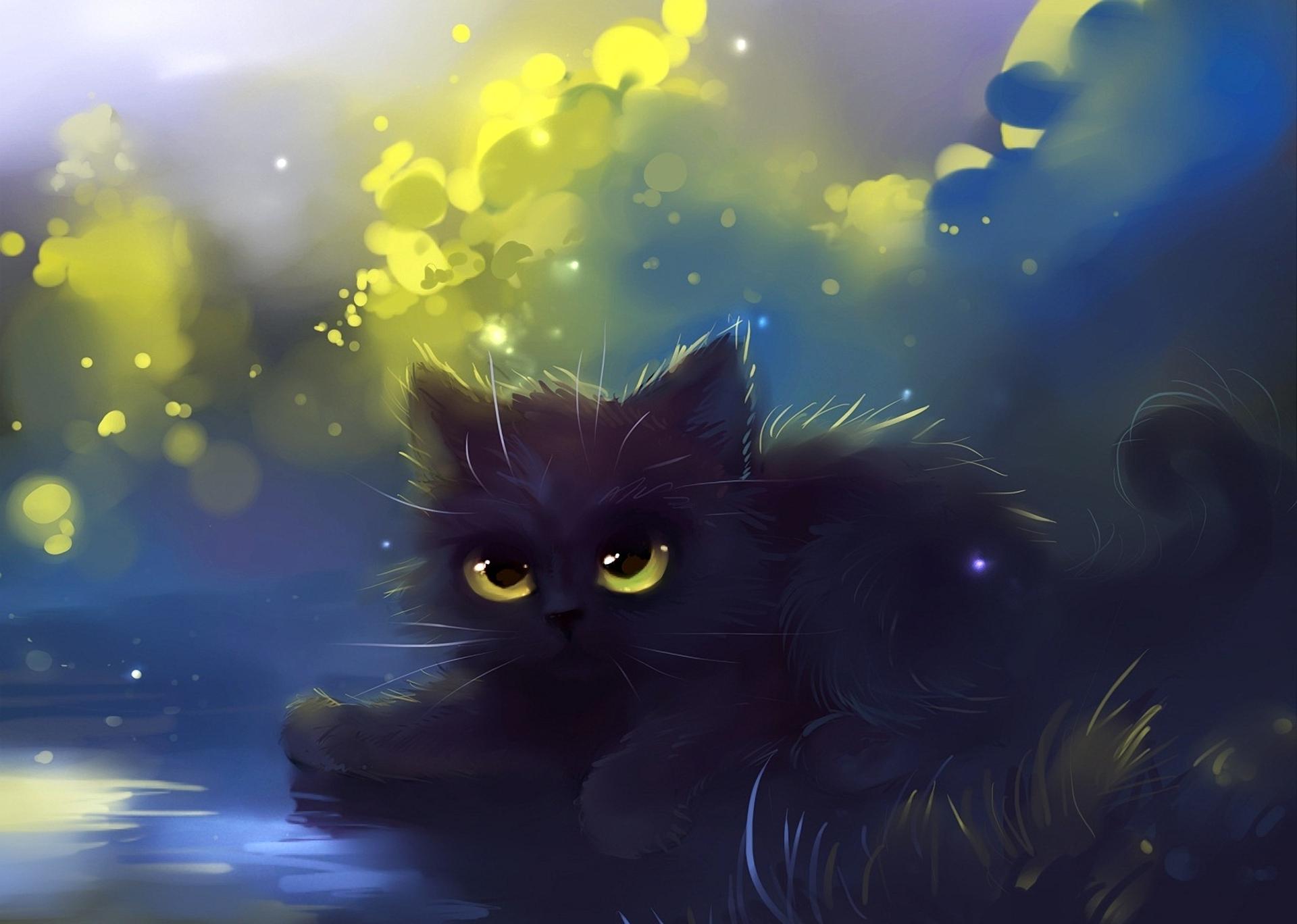 Drawn wallpaper cute anime cat Anime cat Cute ForWallpaper black