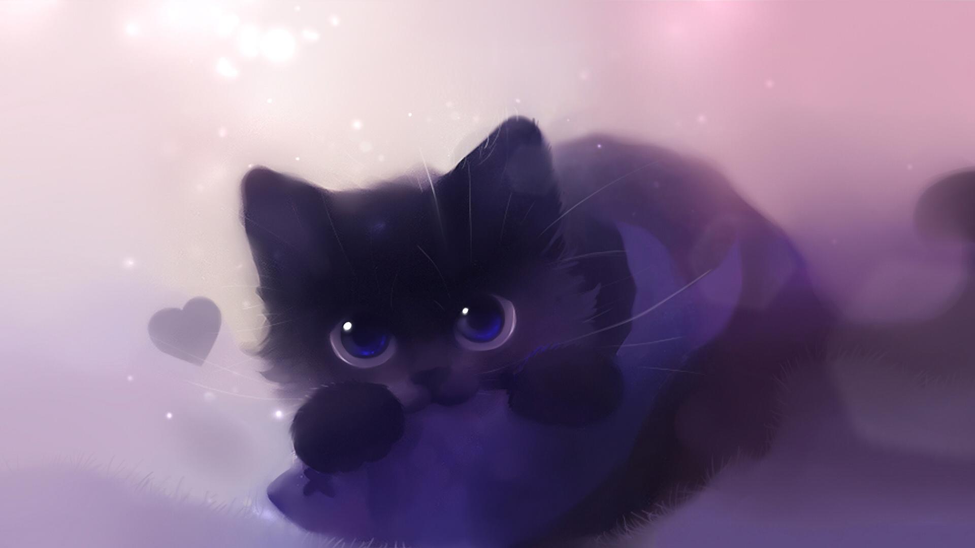 Drawn wallpaper cute anime cat Cat Google Google con CatsCute
