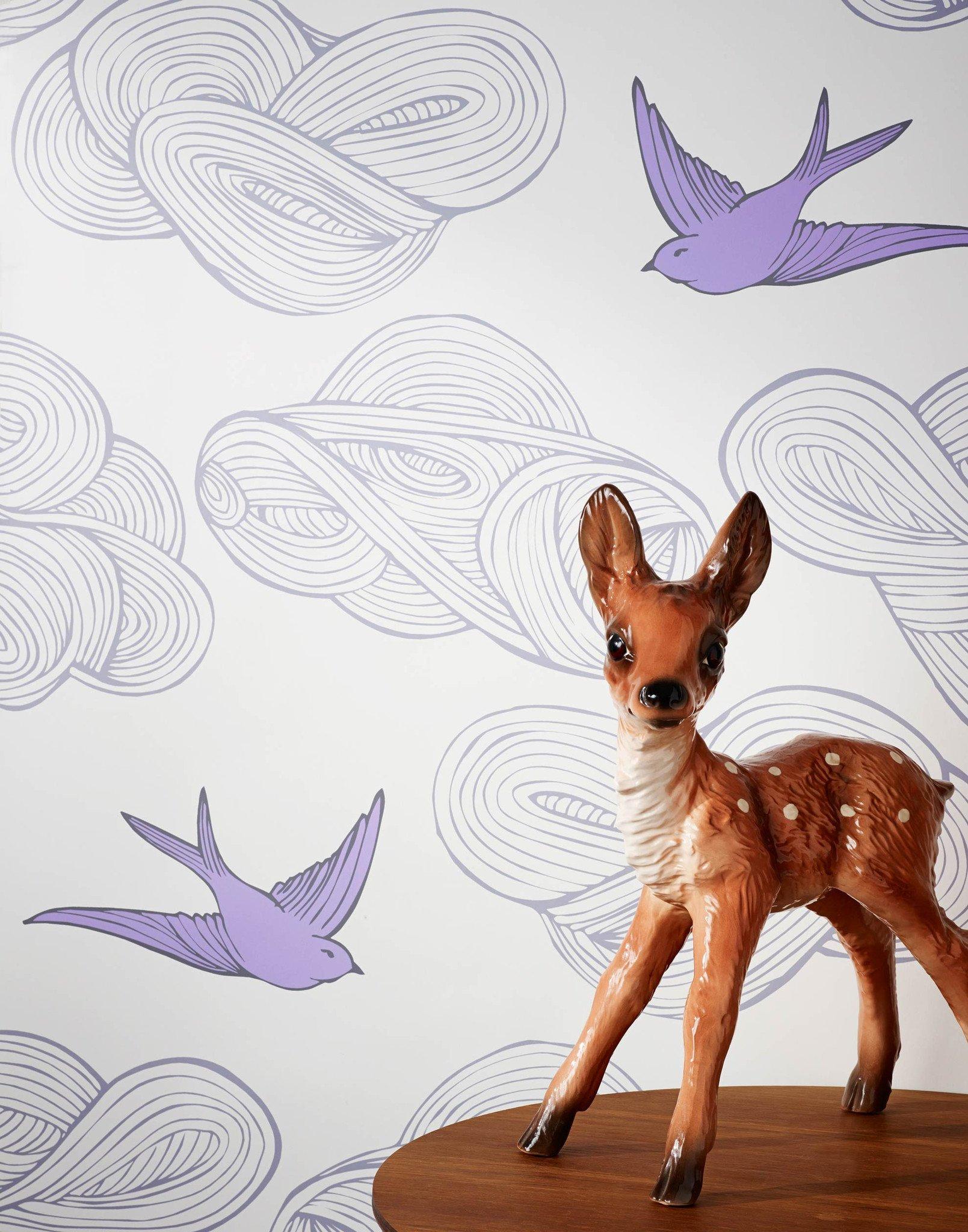 Drawn wallpaper daydream (Lilac) Daydream Hygge (Lilac) &