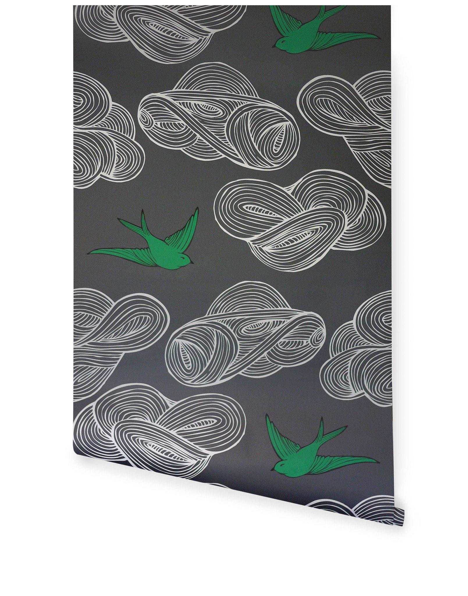 Drawn wallpaper daydream (Gray) Daydream Hygge (Gray) &
