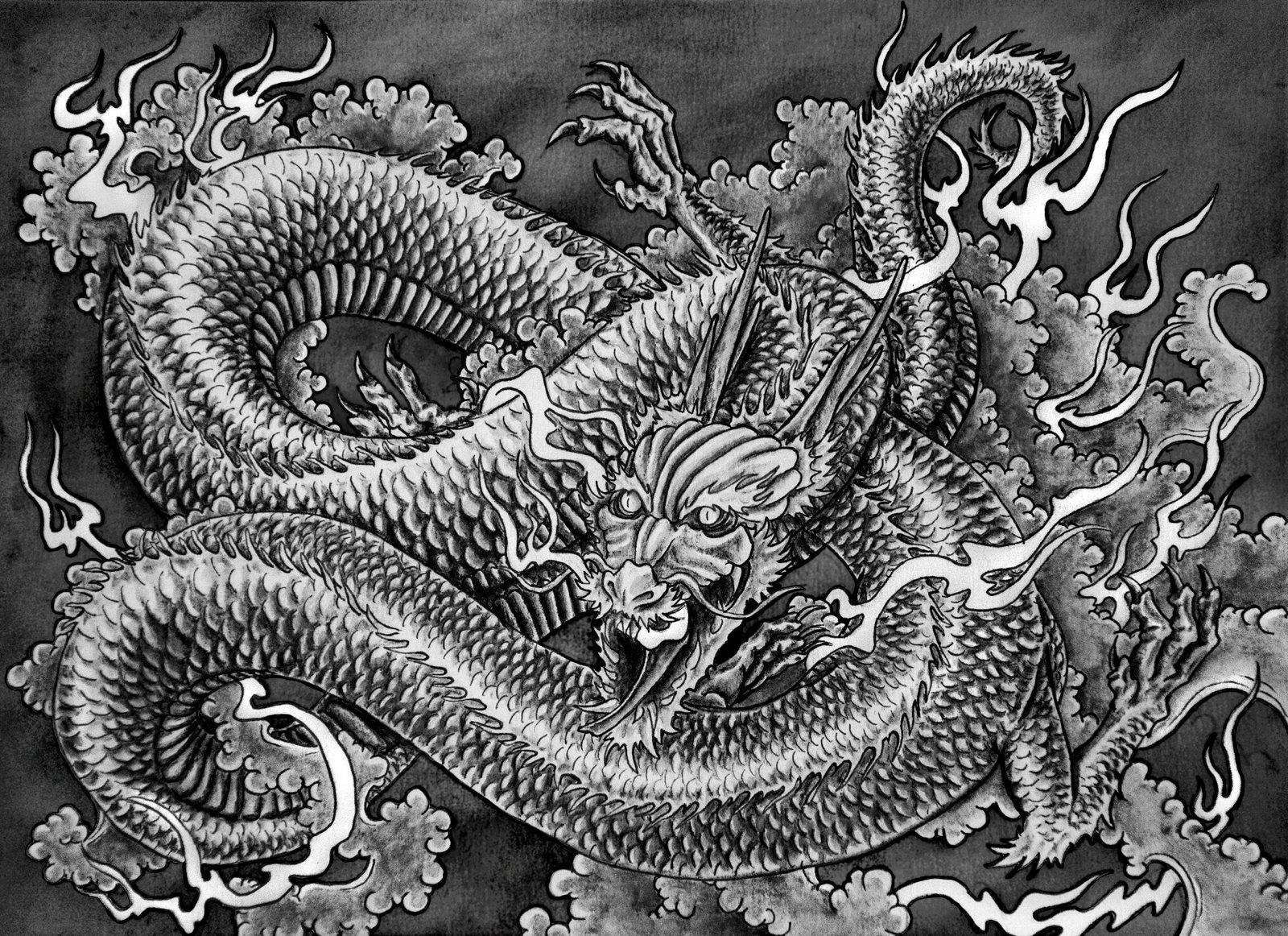 Drawn wallpaper dragon Wallpaper Japanese Download dragon Free