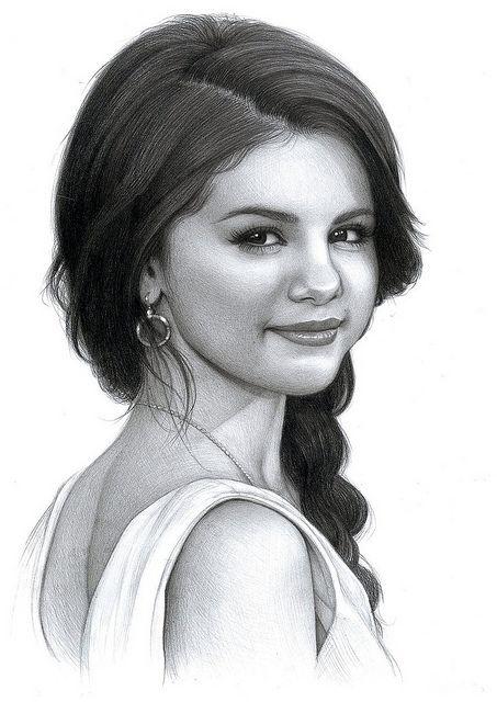 Drawn portrait famous person Pinterest on drawings Best Gomez