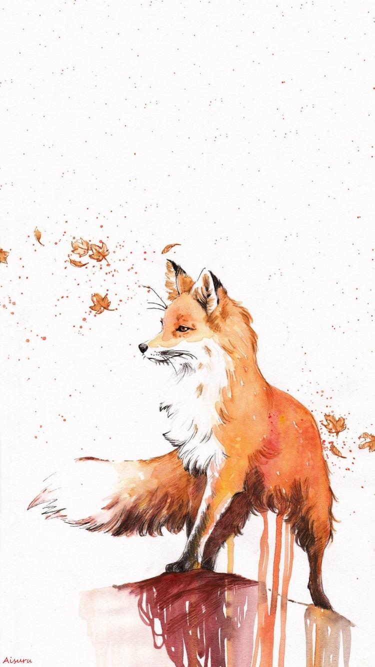 Drawn wallpaper can IPhone IPhone Wallpaper Fox Pinterest